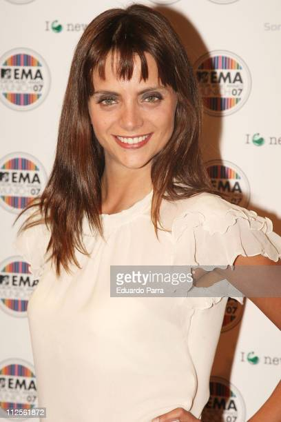 Actress Macarena Gomez at MTV awards spanish party on October 16 2007 in Madrid Spain