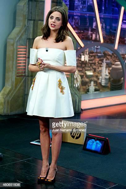 Actress Macarena Gomez attends 'El Hormiguero' Tv show at Vertice Studio on December 18 2014 in Madrid Spain