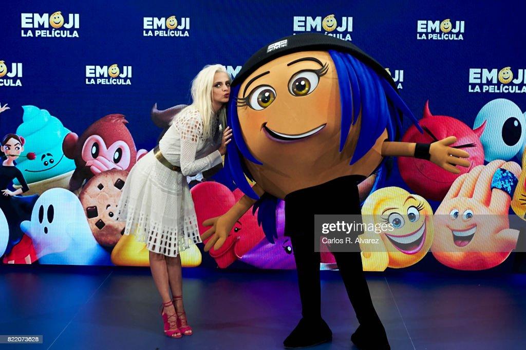 Actress Macarena Gomez attends 'Emoji La Pelicula' photocall at La Casa del Lector on July 25, 2017 in Madrid, Spain.