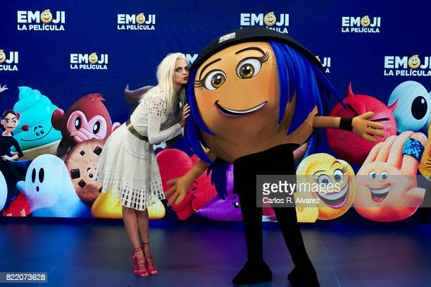 Actress Macarena Gomez attends 'Emoji La Pelicula' photocall at La Casa del Lector on July 25 2017 in Madrid Spain