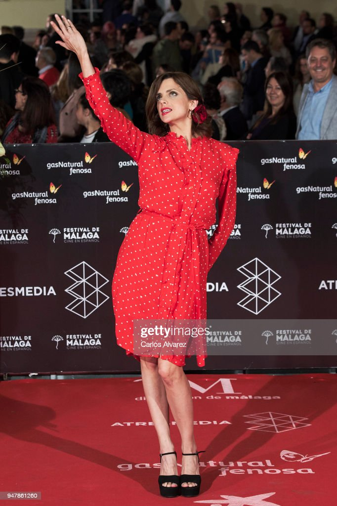 Actress Macarena Gomez attends 'Las Distancias' premiere during the 21th Malaga Film Festival at the Cervantes Theater on April 17, 2018 in Malaga, Spain.