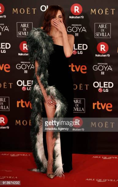 Actress Macarena Gomez attends the 32th edition of the Goya Awards ceremony in Madrid Spain on February 04 2018