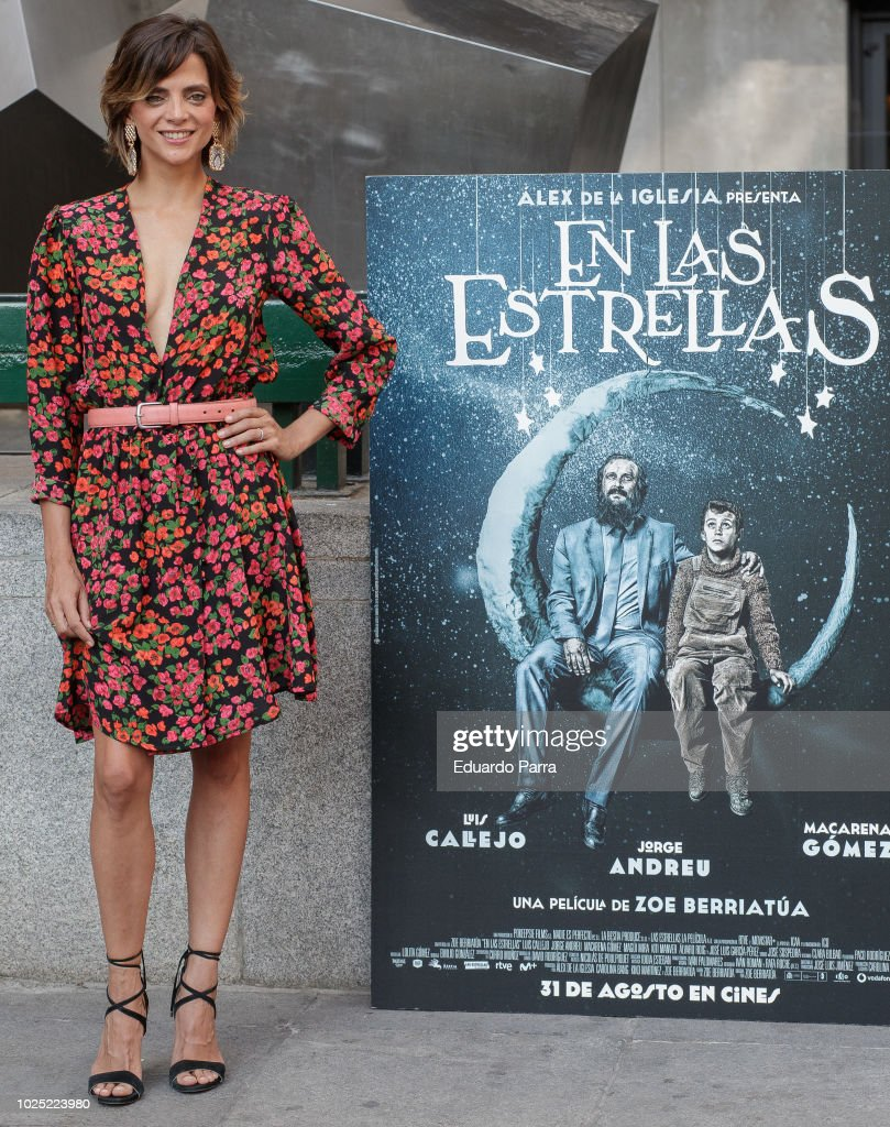 Actress Macarena Gomez attends the 'En las estrellas' photocall at Princesa cinema on August 30, 2018 in Madrid, Spain.