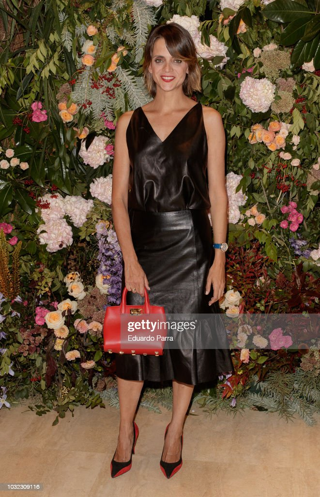 Actress Macarena Gomez attends the 'Salvatore Ferragamo' new boutique opening party photocall at Salvatore Ferragamo store on September 12, 2018 in Madrid, Spain.