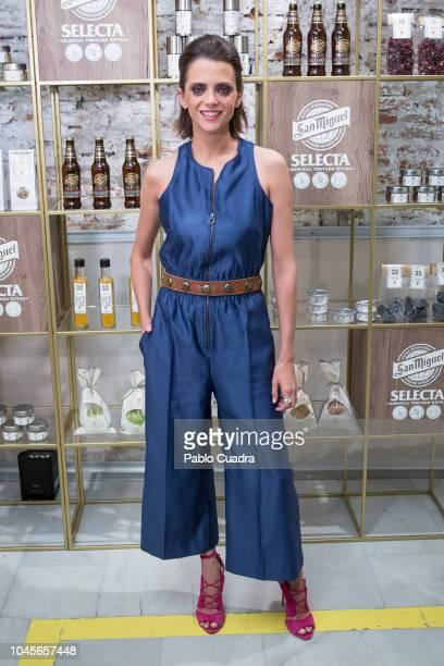 Actress Macarena Gomez presents Exploratorium by San Miguel at 'Espacio Efimera' on October 4 2018 in Madrid Spain