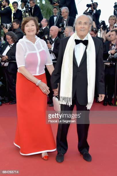 Actress Macha Meril and music composer Michel Legrand attend the Ismael's Ghosts screening and Opening Gala during the 70th annual Cannes Film...