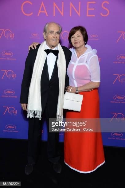 Actress Macha Meril and music composer Michel Legrand attend the Opening Gala Dinner during the 70th annual Cannes Film Festival at Palais des...