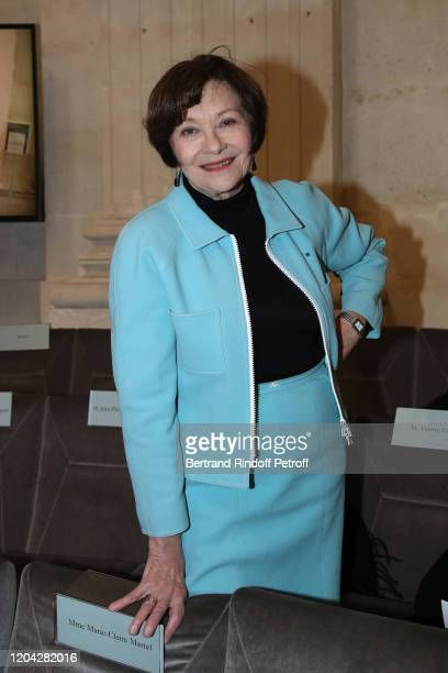 Actress Macha Meril attends the Installation of Frederic Mitterrand at the Academie des BeauxArts Held at Academie des BeauxArts on February 05 2020...