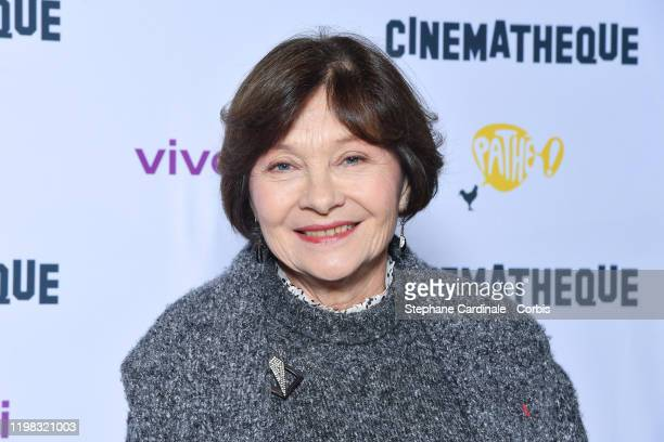 Actress Macha Meril attends the Jean-Luc Godard's Retrospective at La Cinematheque on January 08, 2020 in Paris, France.