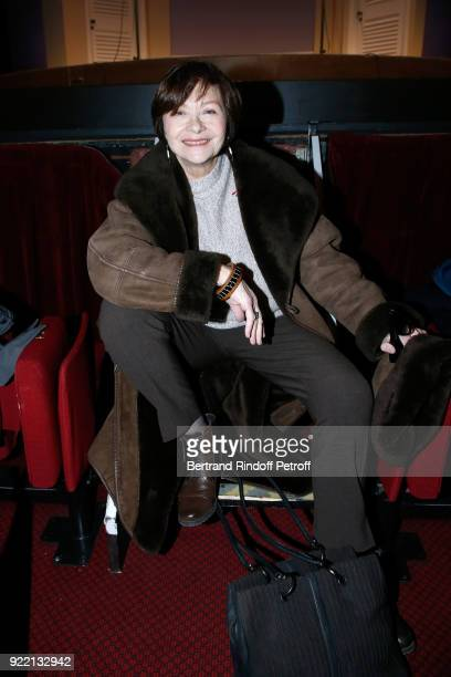 """Actress Macha Meril attends the """"Le Prix du Brigadier 2017"""" Award at Theatre Montparnasse on February 21, 2018 in Paris, France."""