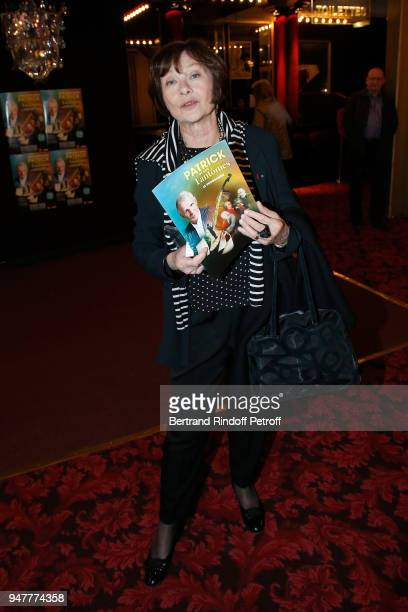 Actress Macha Meril attends the Patrick et ses Fantomes Theater Play at Casino de Paris on April 17 2018 in Paris France