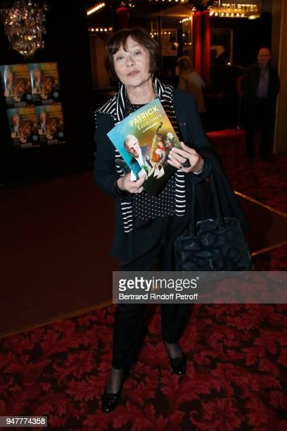 "Actress Macha Meril attends the ""Patrick et ses Fantomes"" Theater Play at Casino de Paris on April 17, 2018 in Paris, France."