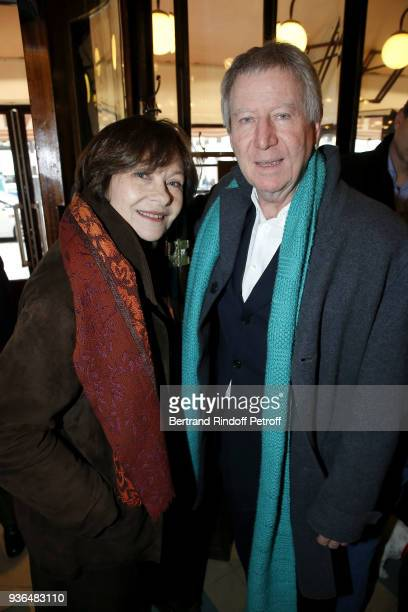 Actress Macha Meril Princess Gagarine and Director Regis Wargnier attend the 83rd Prix Cazes de la Brasserie Lipp Literary Prize at Brasserie Lipp on...