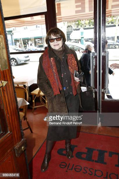 Actress Macha Meril Princess Gagarine attends the 83rd Prix Cazes de la Brasserie Lipp Literary Prize at Brasserie Lipp on March 22 2018 in Paris...
