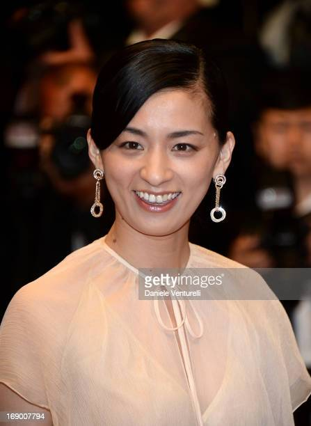 Actress Machiko Ono attends the Premiere of 'Soshite Chichi Ni Naru' at Palais des Festivals during The 66th Annual Cannes Film Festival on May 18,...