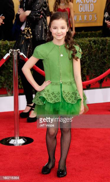 Actress Mackenzie Aladjem arrives at the19th Annual Screen Actors Guild Awards held at The Shrine Auditorium on January 27 2013 in Los Angeles...