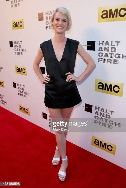 Actress Mackenzie Davis attends AMC's new series Halt And Catch Fire Los Angeles Premiere at ArcLight Cinemas on May 21 2014 in Hollywood California