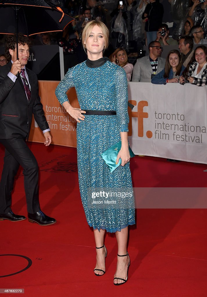 Actress Mackenzie Davis attends 'The Martian' premiere during the 2015 Toronto International Film Festival at Roy Thomson Hall on September 11, 2015 in Toronto, Canada.
