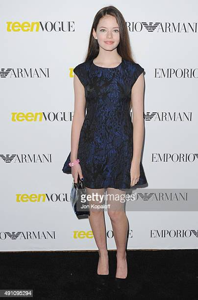 Actress Mackenzie Foy arrives at Teen Vogue's 13th Annual Young Hollywood Issue Launch Party on October 2 2015 in Los Angeles California
