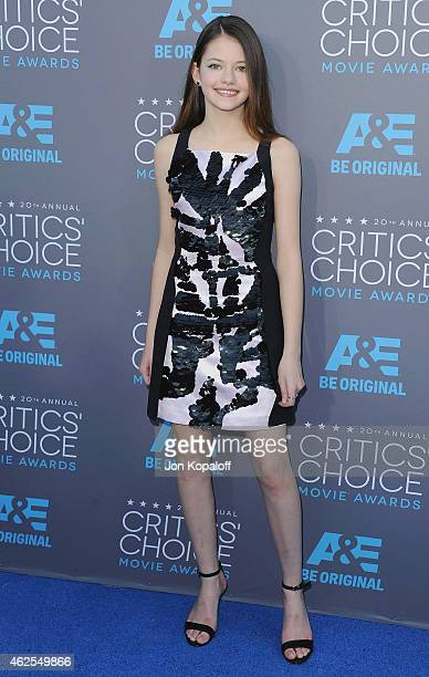 Actress Mackenzie Foy arrives at the 20th Annual Critics' Choice Movie Awards at Hollywood Palladium on January 15 2015 in Los Angeles California