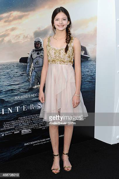 Actress Mackenzie Foy arrives at the Los Angeles Premiere of 'Interstellar' at TCL Chinese Theatre IMAX on October 26 2014 in Hollywood California