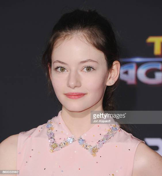 Actress Mackenzie Foy arrives at the Los Angeles Premiere 'Thor Ragnarok' on October 10 2017 in Hollywood California