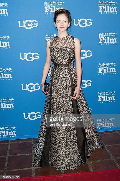 Actress Mackenzie Foy arrives at the opening night of the 31st Santa Barbara International Film Festival featuring 'The Little Prince' at the...