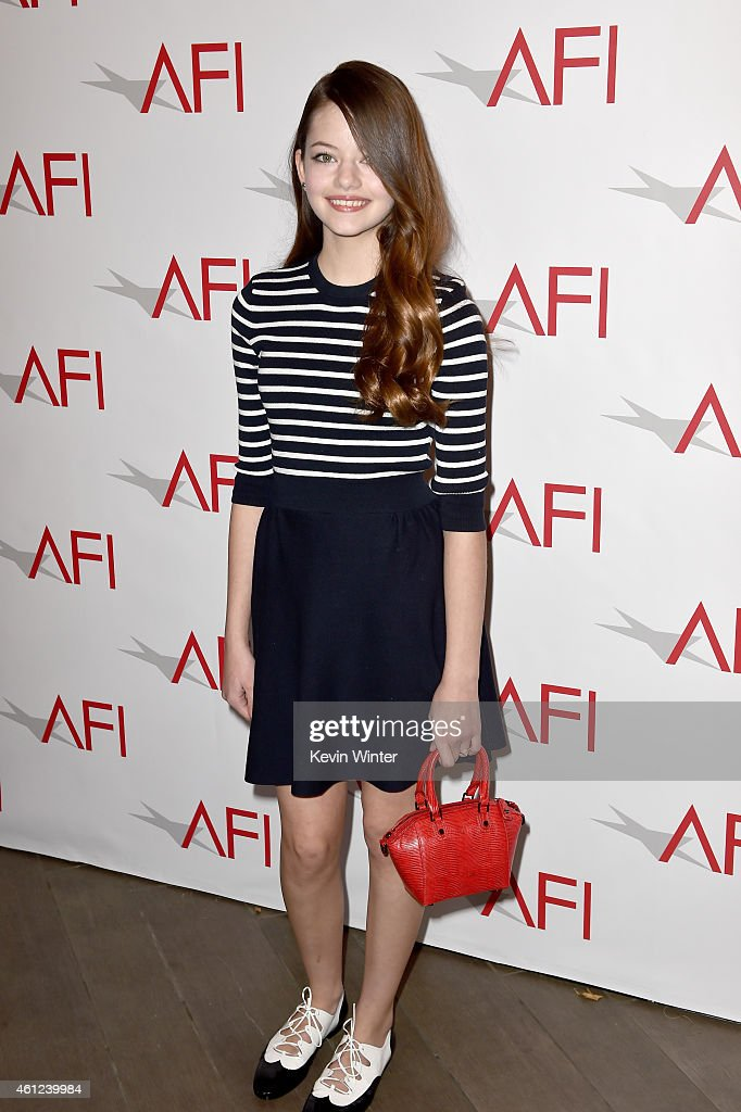 Actress Mackenzie Foy attends the 15th Annual AFI Awards at Four Seasons Hotel Los Angeles at Beverly Hills on January 9, 2015 in Beverly Hills, California.