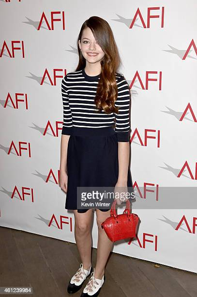 Actress Mackenzie Foy attends the 15th Annual AFI Awards at Four Seasons Hotel Los Angeles at Beverly Hills on January 9, 2015 in Beverly Hills,...