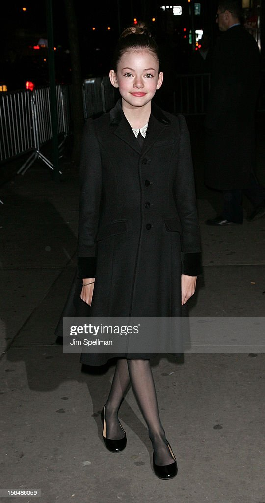 Actress Mackenzie Foy attends The Cinema Society with The Hollywood Reporter & Samsung Galaxy screening of 'The Twilight Saga: Breaking Dawn Part 2' on November 15, 2012 at the Landmark Sunshine Cinema in New York City.