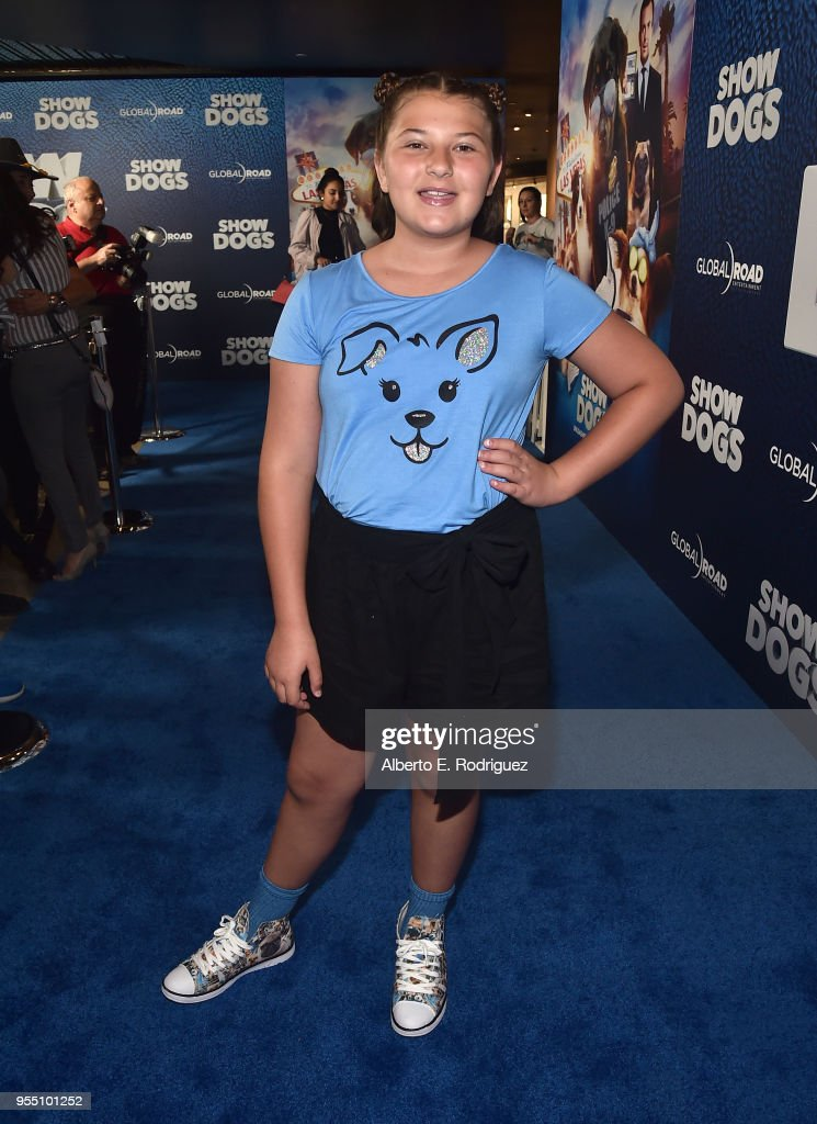 Actress Mackenzie Hancsicsak attends the premiere of Global Road Entertainment's 'Show Dogs' at The TCL Chinese 6 Theatres on May 5, 2018 in Hollywood, California.