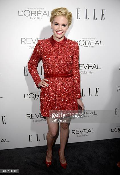 Actress Mackenzie Mauzy attends ELLE's 21st Annual Women in Hollywood Celebration at the Four Seasons Hotel on October 20 2014 in Beverly Hills...