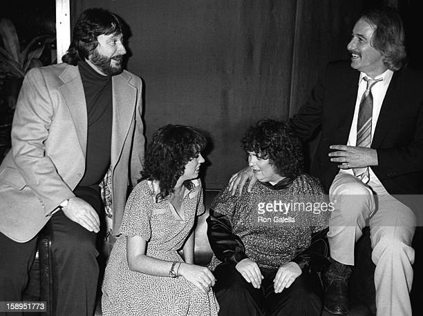 Actress Mackenzie Phillips and musicians John Phillips Denny Doherty and Spanky McFarland attend Electra Asylum Party for Richard Perry on November 2...