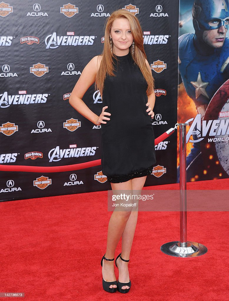 Actress Mackinlee Waddell arrives at the Los Angeles Premiere of 'The Avengers' at the El Capitan Theatre on April 11, 2012 in Hollywood, California.