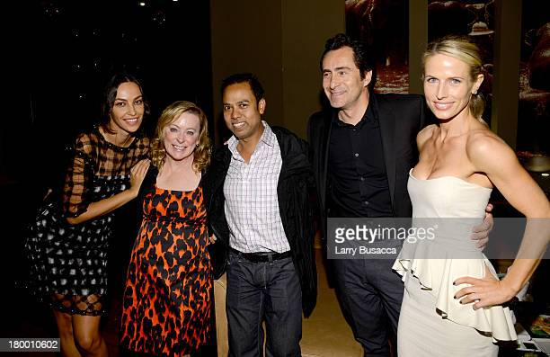 Actress Madalina Diana Ghenea Fox Searchlight Pictures President Nancy Utleymember of the Hollywood Foreign Press Assn Munawar Hosain actor Demian...