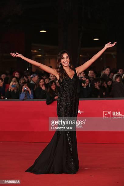 Actress Madalina Ghenea attends the 'Razza Bastarda' Premiere during the 7th Rome Film Festival at the Auditorium Parco Della Musica on November 17...