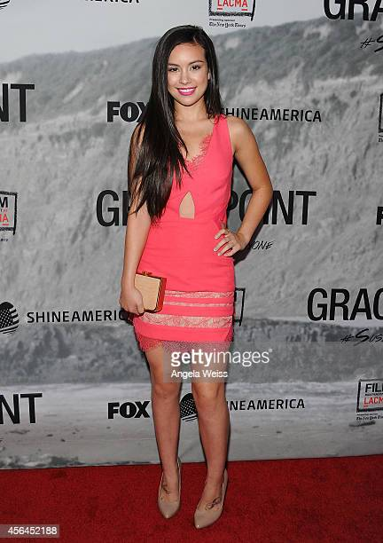 Actress Madalyn Horcher attends the Film Independent Screening of 'Gracepoint' at Bing Theatre at LACMA on September 30 2014 in Los Angeles California