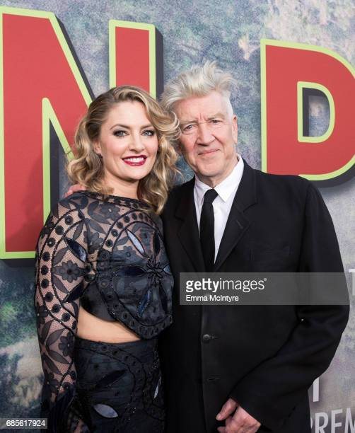 Actress Madchen Amick and director David Lynch attend the premiere of Showtime's 'Twin Peaks' at The Theatre at Ace Hotel on May 19 2017 in Los...