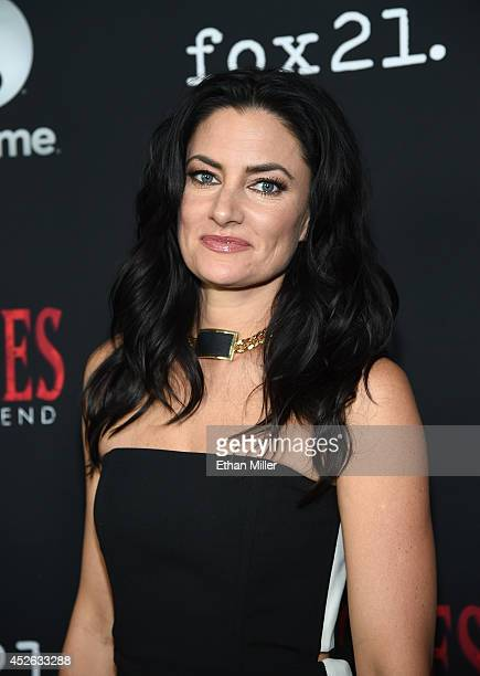 Actress Madchen Amick attends the 'Witches of East End' season two premiere during ComicCon International 2014 at The Tipsy Crow on July 24 2014 in...