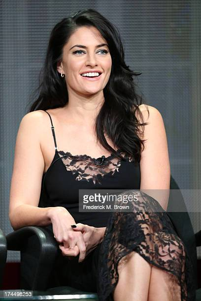 Actress Madchen Amick speaks onstage during the 'Witches of East End' panel discussion at the Lifetime portion of the 2013 Summer Television Critics...