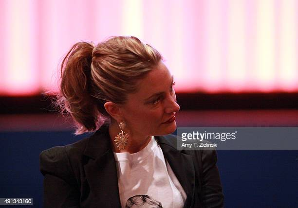 Actress Madchen Amick who played Shelly Johnson on the TV series Twin Peaks attends a QA with actors during the sixth annual Twin Peaks UK Festival...