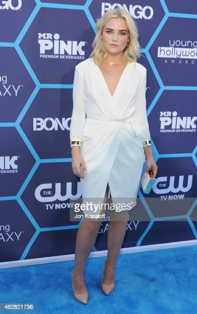 Actress Maddie Hasson arrives at the 16th Annual Young Hollywood Awards at The Wiltern on July 27 2014 in Los Angeles California