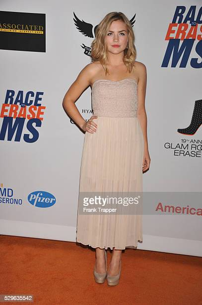 Actress Maddie Hasson arrives at the 19th Annual Race to Erase MS held at the Hyatt Regency Century Plaza on May 18 2012 in Century City