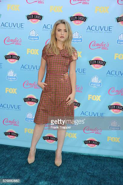 Actress Maddie Hasson arrives at the Teen Choice Awards 2013 held at Universal Studios Gibson Amphitheatre