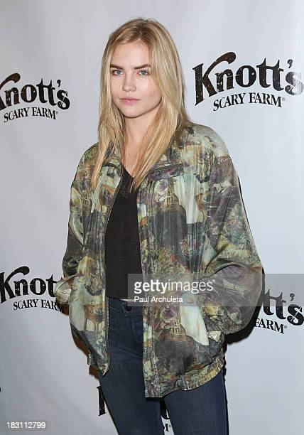 Actress Maddie Hasson attends the VIP opening of Knott's Scary Farm HAUNT at Knott's Berry Farm on October 3 2013 in Buena Park California