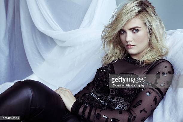 Actress Maddie Hasson is photographed for Glamaholic Magazine on May 30 2014 in Los Angeles California