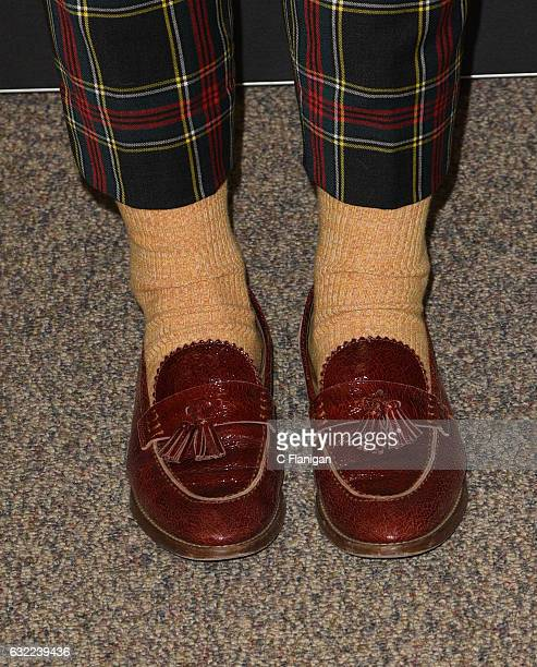Actress Maddie Hasson shoe detail attends the 'Novitate' premiere during day 2 of the 2017 Sundance Film Festival at Eccles Center Theatre on January...