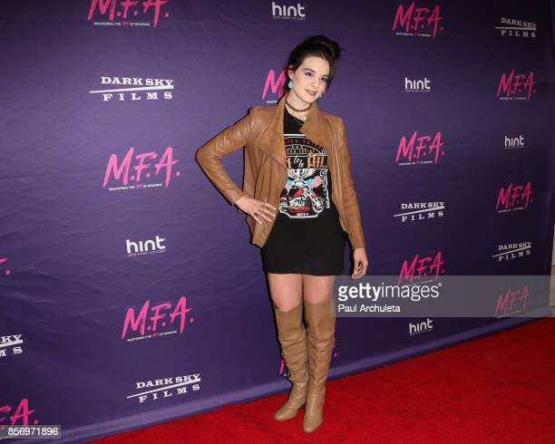 Actress Maddison Bullock attends the premiere of Dark Sky Films' 'MFA' at The London West Hollywood on October 2 2017 in West Hollywood California
