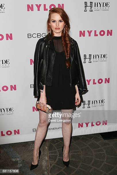 Actress Madelaine Petsch arrives at NYLON and BCBGeneration's Annual Young Hollywood May Issue Event at HYDE Sunset Kitchen Cocktails on May 12 2016...