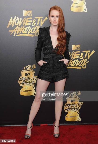 Actress Madelaine Petsch arrives at the 2017 MTV Movie And TV Awards at The Shrine Auditorium on May 7 2017 in Los Angeles California